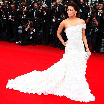 Eva Longoria | EVA LONGORIA The Desperate Housewife certainly knows how to bring the drama on the red carpet, as this sweeping Emilio Pucci proves.