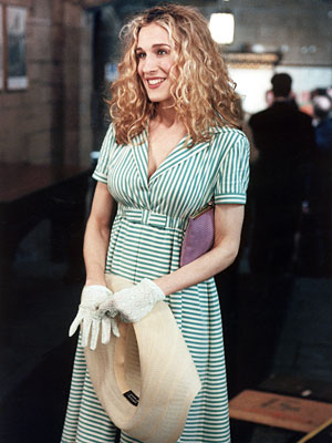 Sex and the City, Sarah Jessica Parker | Always eager to dress the part, Carrie dons her version of Sunday best.