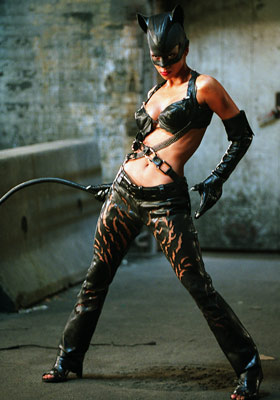 HALLE BERRY as Catwoman CATWOMAN Ultimate Hottie Moment: Berry's pouncing, snarling, and sinuous kitty-cat posture were easily the most (or, really, the only) memorable things…