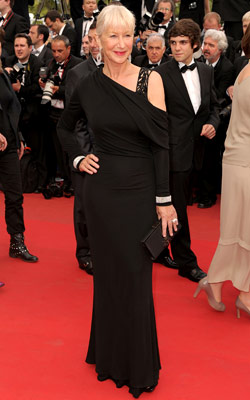 Helen Mirren | HELEN MIRREN One of our favorite fashionistas wins again with a simply slinky Elie Saab.