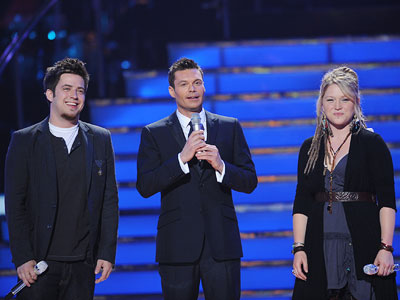 American Idol, Crystal Bowersox, ...   TWO FOR THE SHOW Ryan introduced Lee and Crystal to a significantly bigger crowd this week — some 7,000 strong at L.A.'s Nokia Theatre