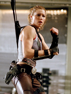 Blade: Trinity, Jessica Biel | JESSICA BIEL as Abigail Whistler BLADE 3 Ultimate Hottie Moment: Breaking Blade out of custody with her tricked-out bow and arrow, Whistler's daughter managed to…