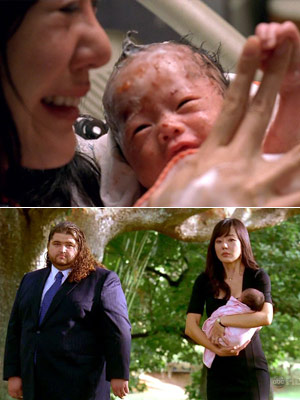 Lost, Yunjin Kim | ''Ji Yeon'' (Season 4, Episode 7) When Sun had to deliver Ji Yeon by herself and then visited Jin's grave with Hurley, we wept at…