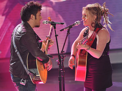 Lee DeWyze, Crystal Bowersox, ... | 'SLOWLY' AND STEADY Lee Dewyze and Crystal Bowersox scored high marks with the judges by choosing a ballad from indie favorite Once .
