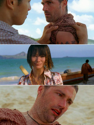 Bai Ling, Matthew Fox, ... | ''Across the Sea'' and ''Stranger in a Strange Land''—mat Jack?s tattoo, really pointless, and that ''actress'' in the episode was awful.—Yes 'Across the sea', 'Stranger…