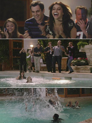 Modern Family, Sofia Vergara, ... | THE PRITCHETT/DUNPHY CLANS Modern Family (2009) In-fighting among your guests? Look to Gloria (Sofia Vergara) and Claire (Julie Bowen) to break the tension by hurling…