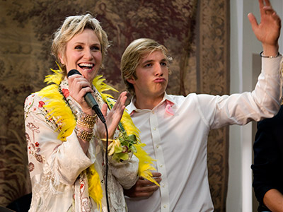 Party Down, Jane Lynch | Playing a blushing bride shouldn't be too much of a stretch for Lynch, who married her real-life love , psychiatrist Lara Embry, on Memorial Day.…