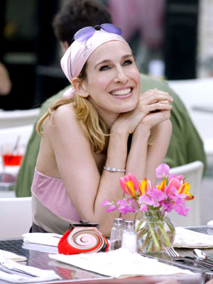 Sarah Jessica Parker, Sex and the City | Again with the do-rag? And with sunglasses on top? Who is she, Bret Michaels?