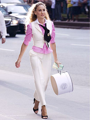 Carrie turns up an '80s-inspired preppy look.
