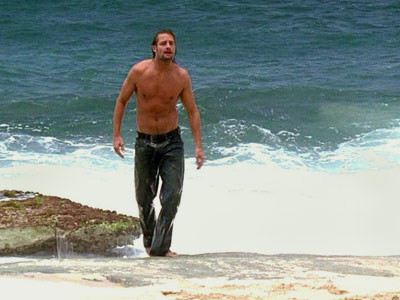 Lost, Josh Holloway | How about Sawyer walking out of the ocean onto the beach AFTER he jumped out of the copter? HOT!!—Yes Girl