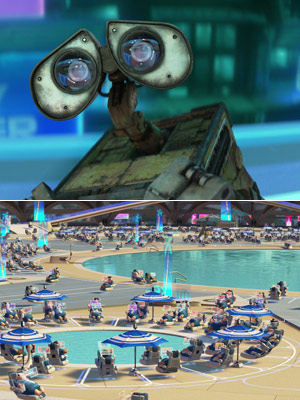 WALL-E | WALL-E WALL-E (2008) Just because he can't go in the water doesn't mean he doesn't want to be invited!