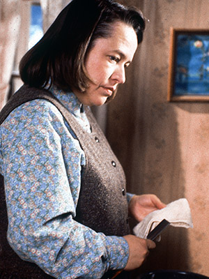 Misery, Kathy Bates | BAD GUY: ANNIE WILKES ''I'm your number one fan'' charged into the lexicon thanks to Kathy Bates' eerie turn as psychopathic former nurse Annie Wilkes…