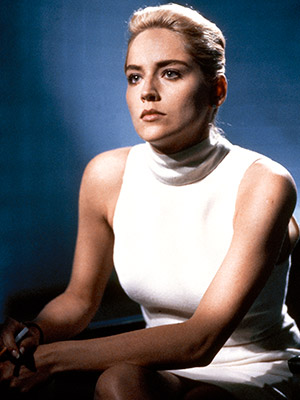 Basic Instinct, Sharon Stone | BAD GUY: CATHERINE TRAMELL A Hitchcock blonde turned up to 11, the ice-pick-wielding Tramell is brilliant, psychotic, alluring, and deadly in the 1992 pulp thriller…