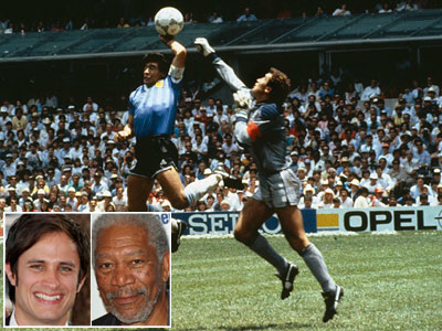 The Mistake: Argentinean Maradona broke the laws of soccer physics when he knocked the ball past the English goalie...with his hand. The referee didn't see…