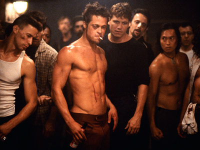 Fight Club, Brad Pitt | Fight Club (1999) When my mom saw it for the first time, she told me I must have something wrong with me because I can…