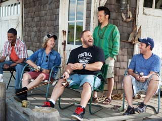 Grown Ups | THE GANG'S ALL HERE Chris Rock, David Spade, Kevin James, Rob Schneider, and Adam Sandler laugh it up in Grown Ups