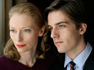 YES WE AM Tilda Swinton and Mattia Zaccaro watch and wait in I Am Love