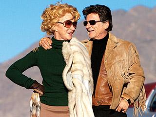 Joe Pesci, Helen Mirren, ... | BUT WHO HAS PRETTIER HAIR? Helen Mirren and Joe Pesci enjoy the '70s in Love Ranch