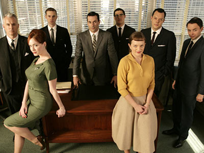Mad Men, John Slattery | MAD MEN PREMIERED July 19, 2007 THE SCOOP After only a 13-episode run, AMC execs were able to peer through the thick cloud of cigarette…