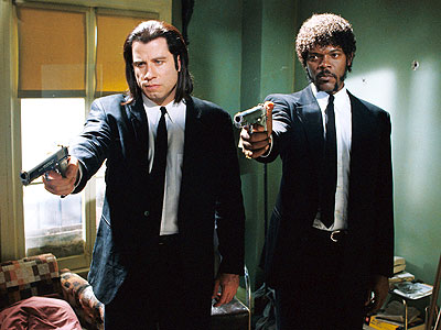 Pulp Fiction (Movie - 1994), John Travolta, ... | These two hitmen were the beating, bloody heart of one of the most talked about movies of the last two decades. Their hair, their suits,…