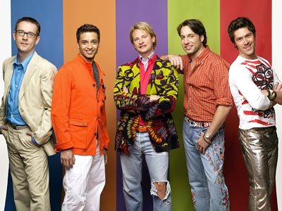 Ted Allen, Kyan Douglas, ... | QUEER EYE FOR THE STRAIGHT GUY PREMIERED July 15, 2003 THE SCOOP On the pre- Queer Eye Bravo, you could spot tumbleweeds roll past James…