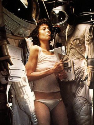 Alien, Sigourney Weaver | In a role that was once intended for a male actor, Weaver effortlessly transformed Ripley from a rose-to-the-occasion survivor in Alien to a full-fledged E.T.…