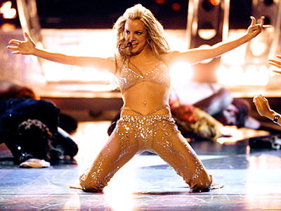 Britney Spears | Britney Spears memorably shed her good-girl image along with everything but the sequins during her MTV Movie Awards performance of ''Oops!...I Did It Again.''
