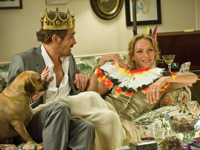 Lee Pace, Uma Thurman, ... | In the upcoming film Ceremony , a free spirit (Uma Thurman) and her fiancé ( Pushing Daisies ' Lee Pace, left) play dress-up after the…