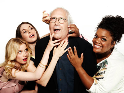 Chevy Chase, Community | GILLIAN JACOBS, ALISON BRIE, CHEVY CHASE, AND YVETTE NICOLE BROWN, Community