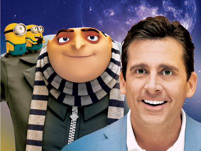Steve Carell, Despicable Me | DESPICABLE ME Bad is the new good in this PG-rated animated comedy, as the villainous Gru (voiced by Steve Carell) and his army of squishy…