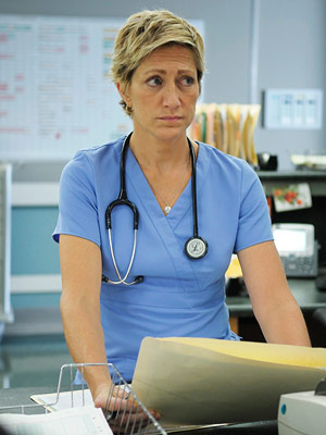 Nurse Jackie, Edie Falco | Outstanding Actress in a Comedy Jackie's a bitter liar, a scheming adulteress, and a rampant drug addict. Remind us again why we love her? Oh,…