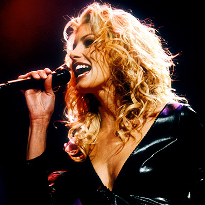 Faith Hill's ''Breathe,'' most likely. I didn't have a prom this year, so I'm not sure if the juniors and seniors mimicked Faith's seductive desert…