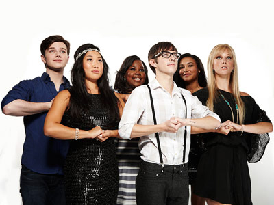 Glee, Chris Colfer, ... | CHRIS COLFER, JENNA USHKOWITZ, AMBER RILEY, KEVIN MCHALE, NAYA RIVERA, AND HEATHER MORRIS, Glee