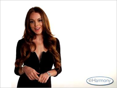 Lindsay Lohan | HIGH eHarmony spoof (2009) After Us Weekly printed a Lohan cover story that detailed her breakup with Samantha Ronson, the actress made a clever eHarmony…