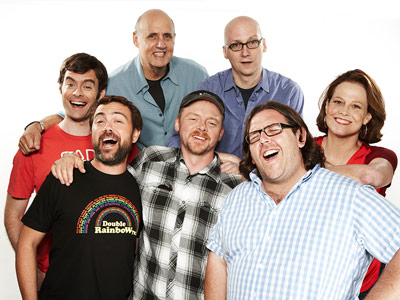 Bill Hader, Nick Frost, ... | BILL HADER, JOE LO TRUGLIO, JEFFREY TAMBOR, SIMON PEGG, NICK FROST, GREG MOTTOLA, AND SIGOURNEY WEAVER, Paul