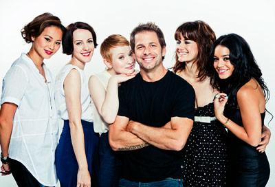Jena Malone, Zack Snyder, ... | JAMIE CHUNG, JENA MALONE, EMILY BROWNING, ZACK SNYDER, CARLA GUGINO, AND VANESSA HUDGENS, Sucker Punch