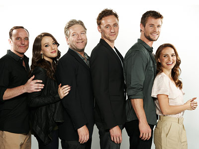 Kat Dennings, Chris Hemsworth, ... | CLARK GREGG, KAT DENNINGS, KENNETH BRANAGH, TOM HIDDLESTON, CHRIS HEMSWORTH, AND NATALIE PORTMAN, Thor