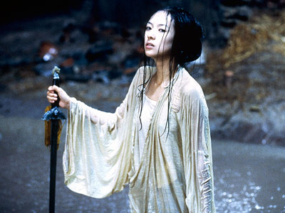 Crouching Tiger, Hidden Dragon, Ziyi Zhang | Can you leap 30 feet into a forest or simultaneously kick two warriors while in midair? I thought not.