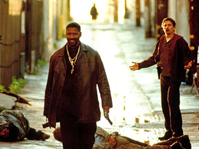 Turning buddy-cop convention on its ear, naive rookie Ethan Hawke discovers early on his first day patroling alongside veteran Denzel Washington that, while the older…