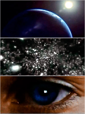 Contact | CONTACT Starting with a view of Earth, the camera pulls back in space through many galaxies with the audio moving backward in time. The image…