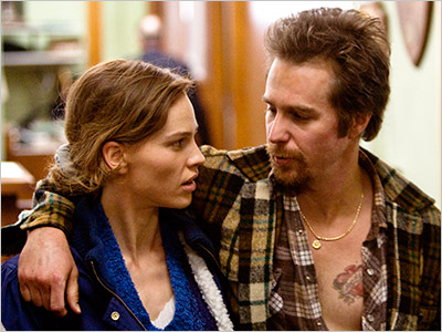 BROTHER & SISTER Hilary Swank and Sam Rockwell fight the legal system in Conviction