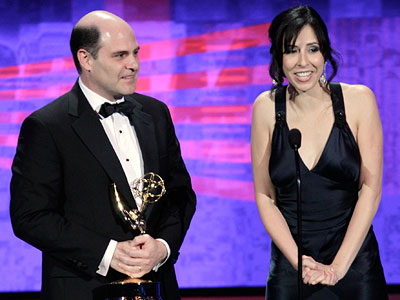Emmy Awards 2010 | WORST SNUB OF AN EMMY WINNER Mad Men 's Matt Weiner Just as he was getting into his acceptance speech after his co-writer Erin Levy…