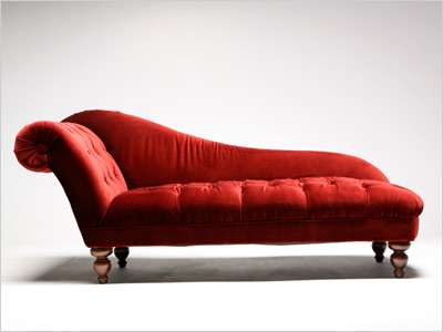 F: FAINTING COUCH Betty irritated her interior decorator by impulsively buying one of these Victorian-era loungers.