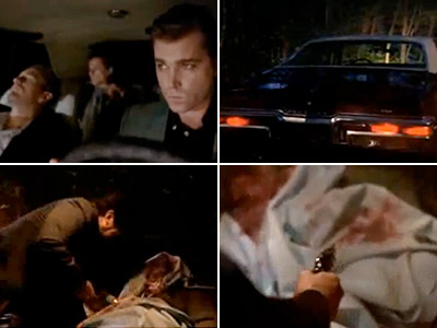 GoodFellas, Joe Pesci | GOODFELLAS Is that a flat tire? Nope. It's a live body in the trunk; a few more stabs and gunshots will do the trick though!…