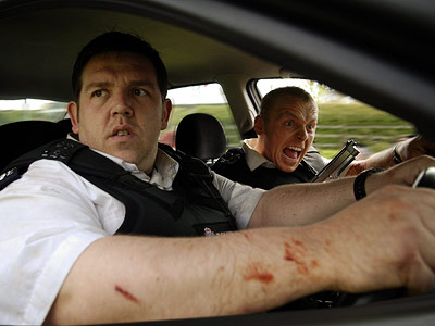 Hot Fuzz, Nick Frost, ... | In the buddy-cop send-up Hot Fuzz , Simon Pegg and Nick Frost are like the Odd Couple of police partners: Pegg's tight-ass Nicholas (at right)…