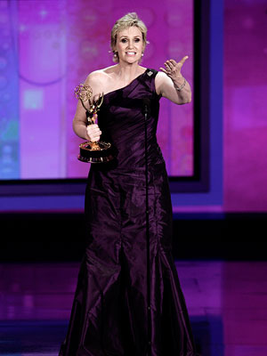Emmy Awards 2010, Jane Lynch | BEST ACCEPTANCE SPEECH Glee 's Jane Lynch ''I want to thank my parents on the South Side of Chicago for raising us to the sounds…
