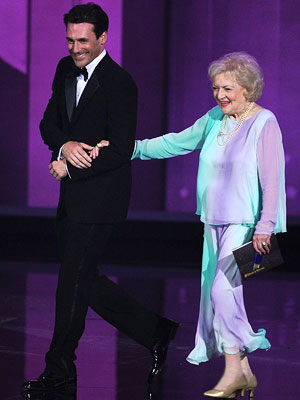 Jon Hamm, Betty White | BEST CHEMISTRY Jon Hamm and Betty White Mad Men star Jon Hamm had the best gig of the evening, as he got to boogie with…