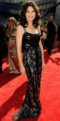 Julianna Margulies | JULIANNA MARGULIES Her performance on The Good Wife may be understated, but the Best Actress nominee certainly sparkled in a L'Wren Scott sheath. Grade: B