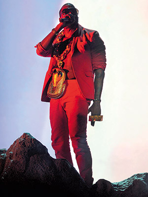 Kanye West | 7. Performs awesome new single ''Power'' atop a dramatic stage volcano at the BET Awards. (June 27)