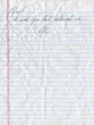 Lost | This crumpled handwritten note nearly undid Jack when Eloise Hawking gave it to him after Locke's death. It came with an envelope with the words…